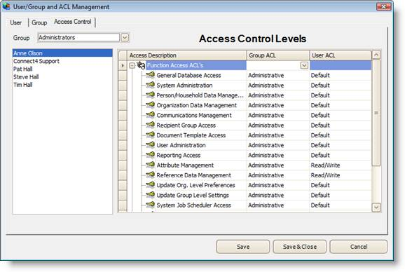 Gnosis Pro Client User Administration